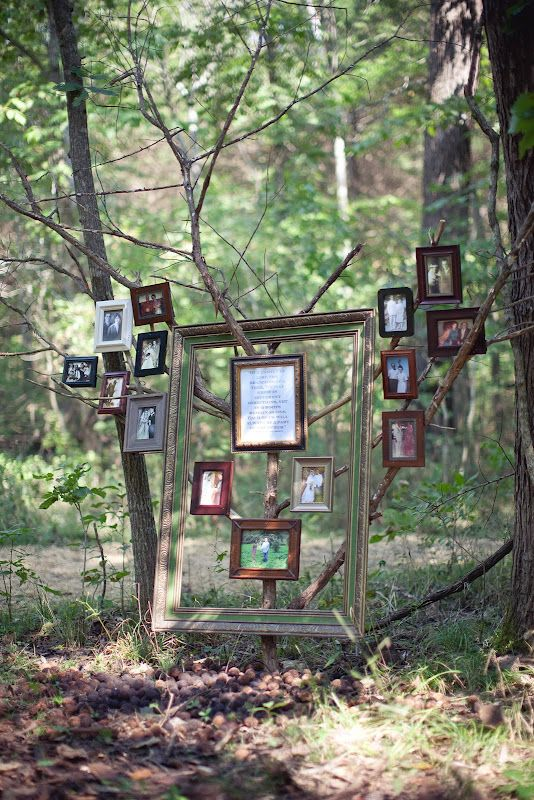 I would love to set up a picture area like this somewhere. Love the frames.