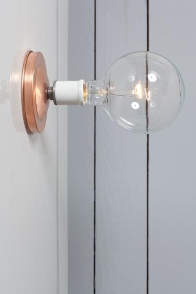 Copper wall mount light bare bulb industrial light electric 1