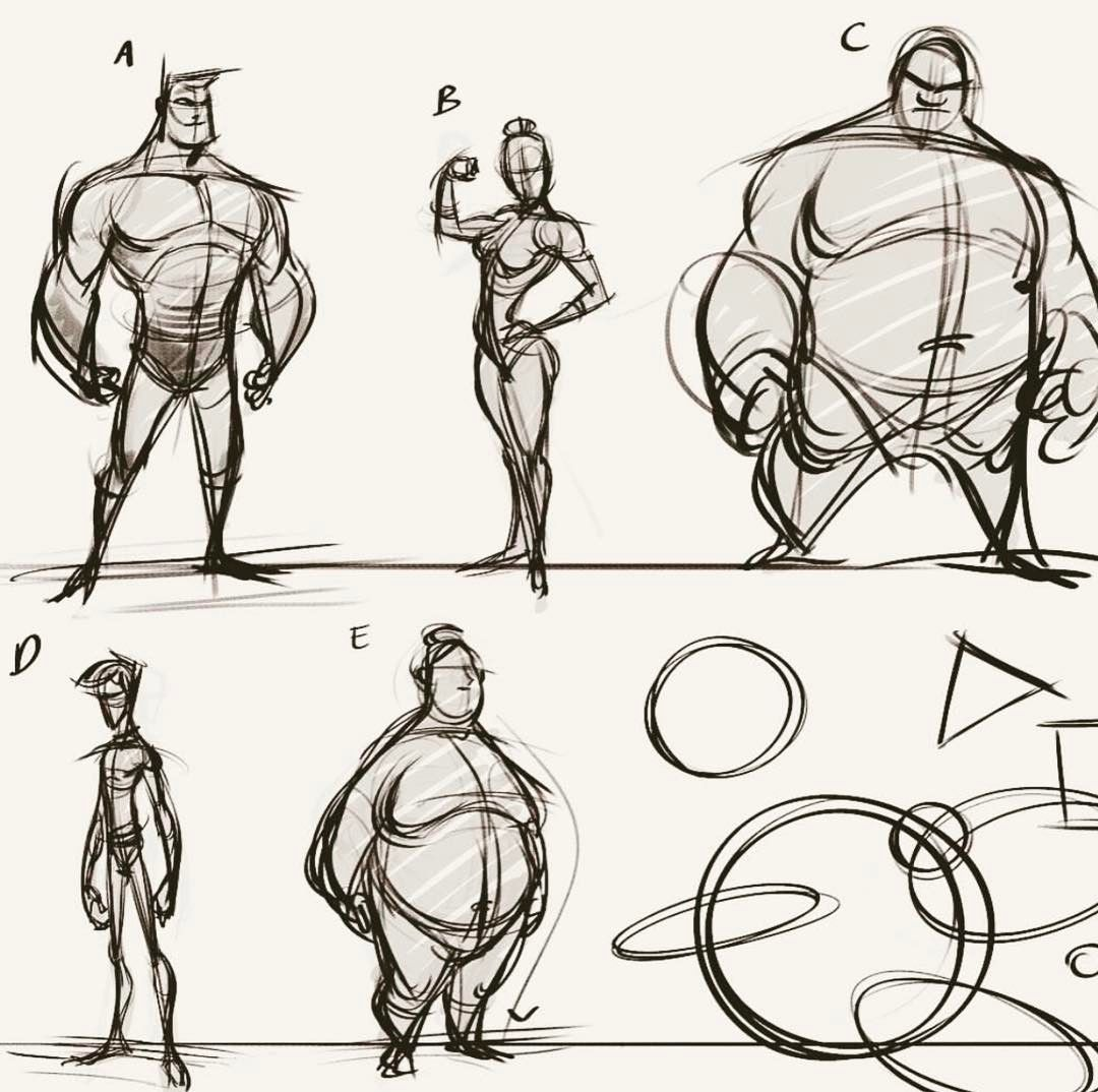 Old Compilation Page Of Character And Proportion Stu S