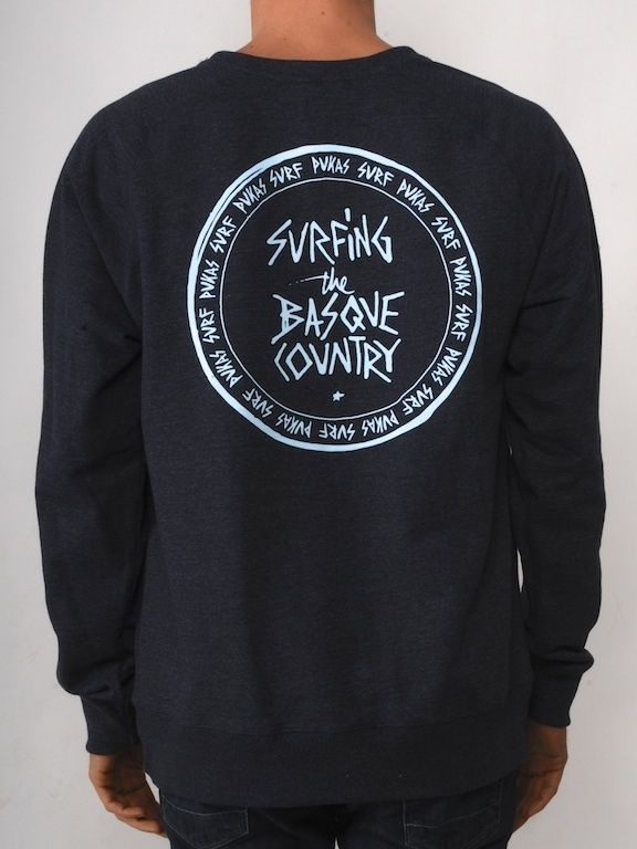Surfing the Basque Country 90 s Fleece - Melange Navy   Pukas Surf Shop 45174116c5a