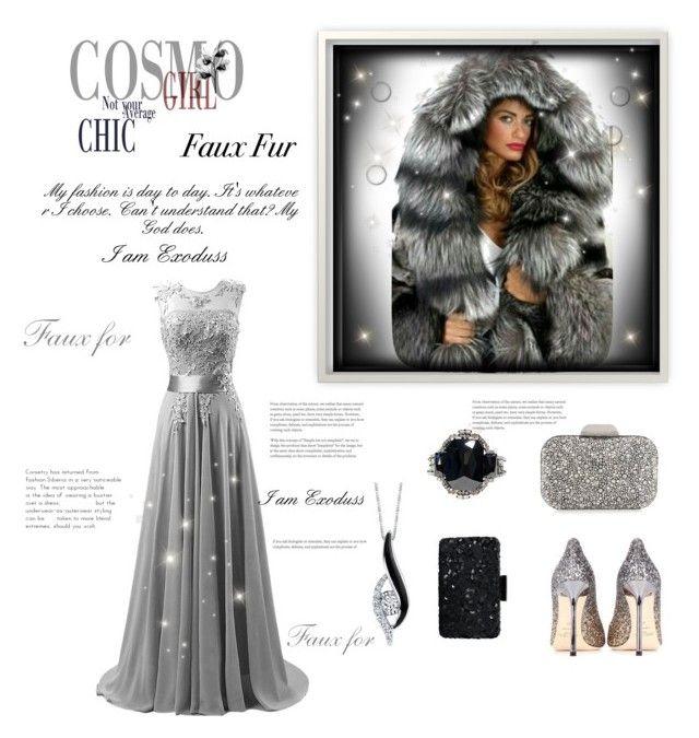 """""""Faux Fur Contest"""" by exoduss ❤ liked on Polyvore featuring Oscar de la Renta, Jimmy Choo, Sirena, Helene Zubeldia, fauxfur and silverformalshoes"""