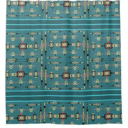 American Indian Arrowhead Designs Shower Curtain