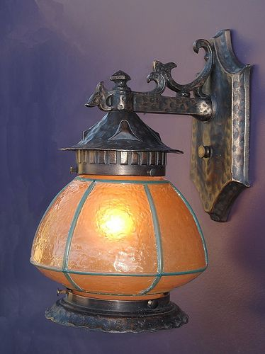 Vintage Cast Aluminum Fixture For Any Decor Bungalow Tudor Craftsman Spanish Revival Lighting De Porch Lighting Craftsman Lamps Craftsman Lighting