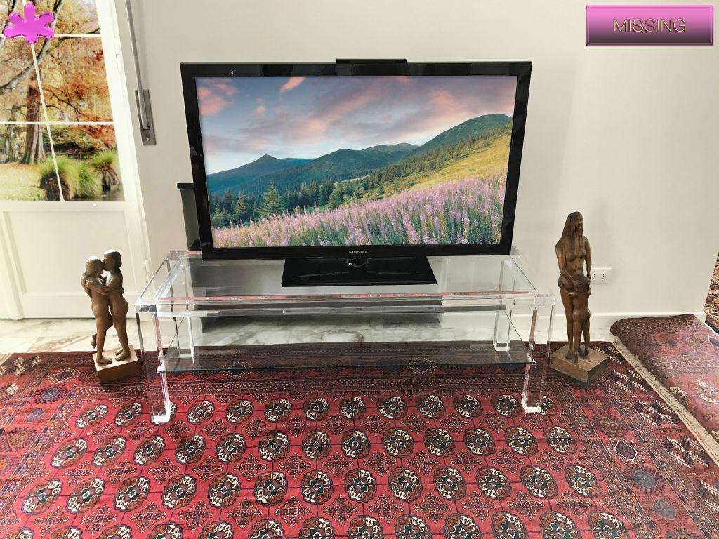 Tavolino X Tv.Mobili Tv In Plexiglas 01 Mobile Trasparente In