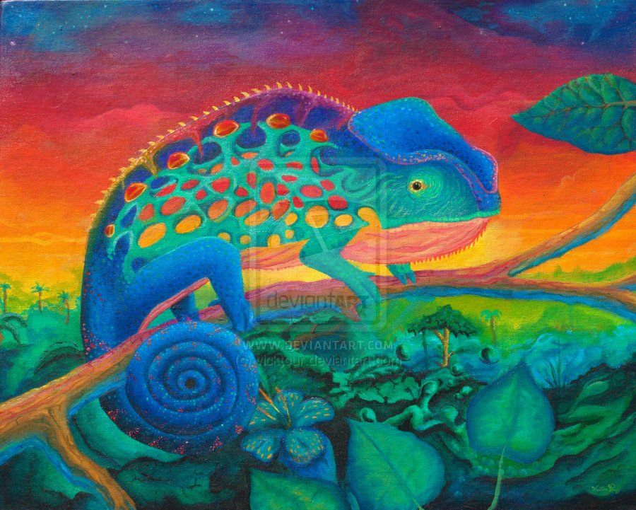 chameleon painting - Google Search