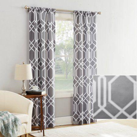 Mainstays Watson Textured Curtain Panel Narrow Panels Curtain