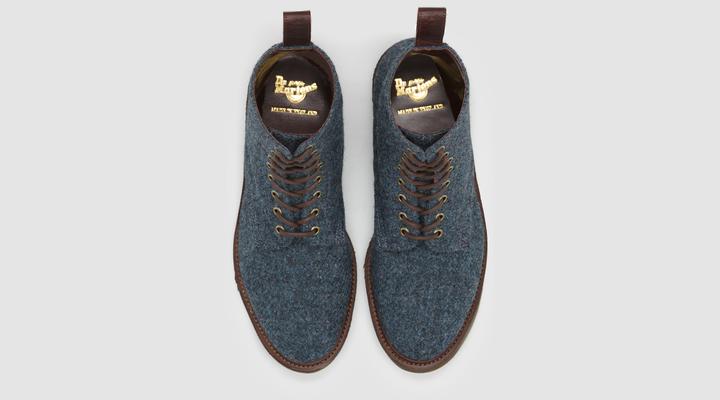 Dr Martens Beckett Boot - Blue Harris Tweed