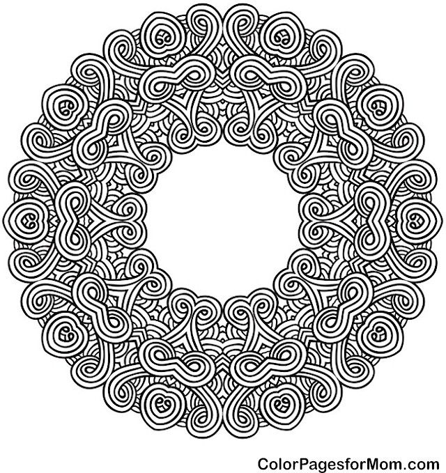 Adult Mandala Coloring Page for Stress Relief | Mandala 42 Advanced ...