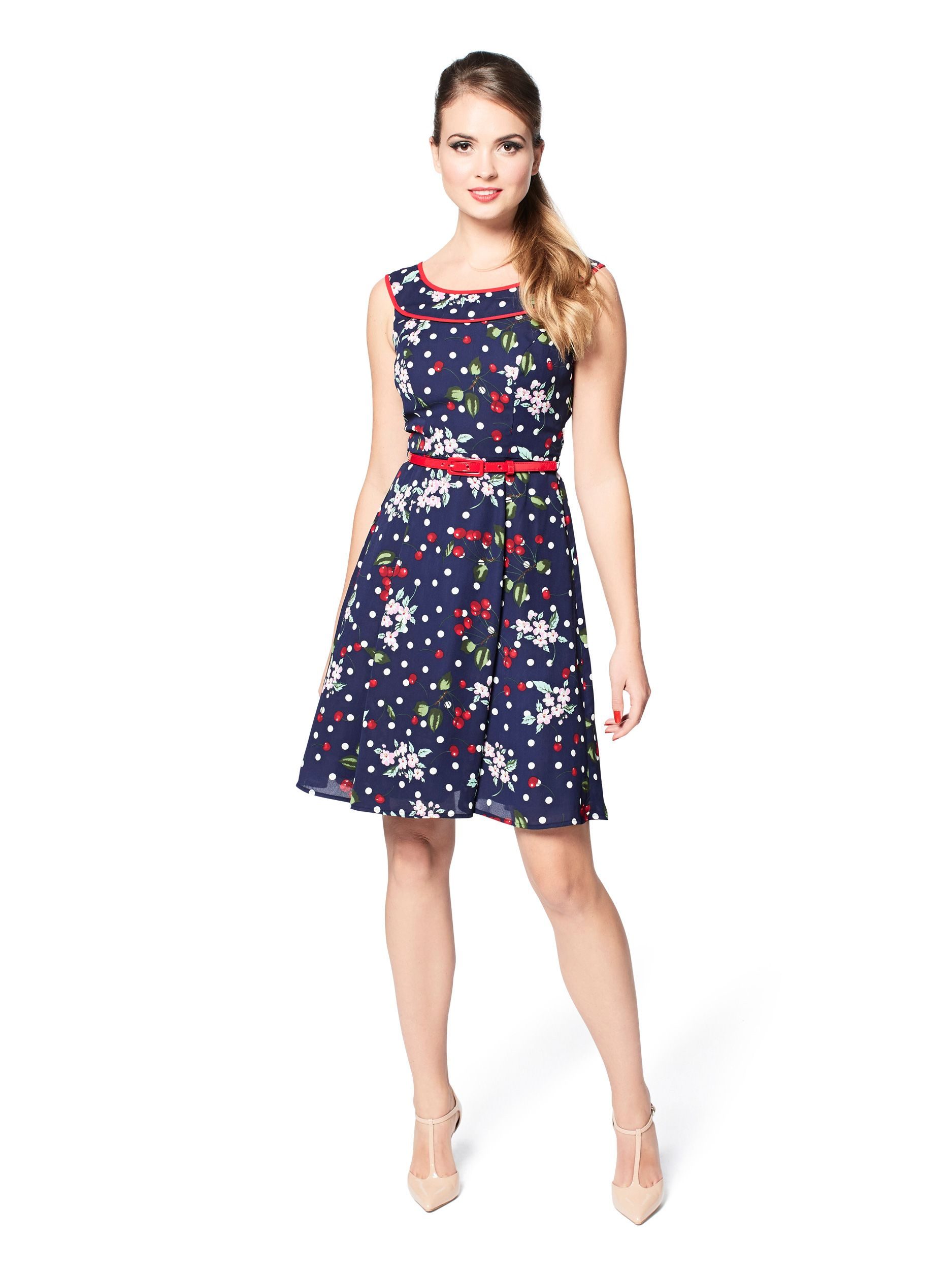 Cherry floral dress navy u multi dresses screenshots