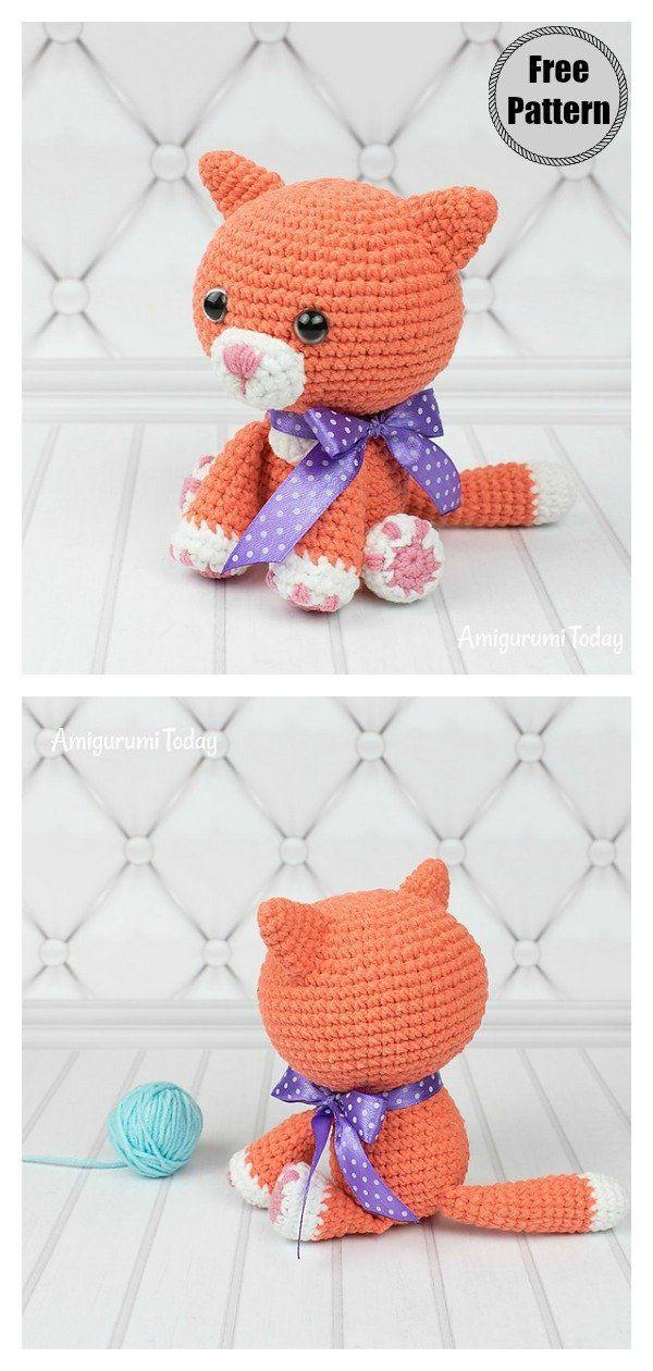 Crochet Amigurumi Cat Free Patterns | Crochet cat pattern, Crochet ... | 1260x600