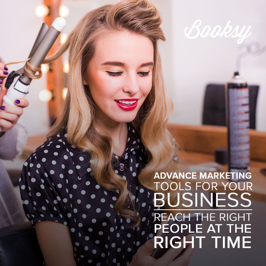 Booksy provides you advance marketing tools and many more