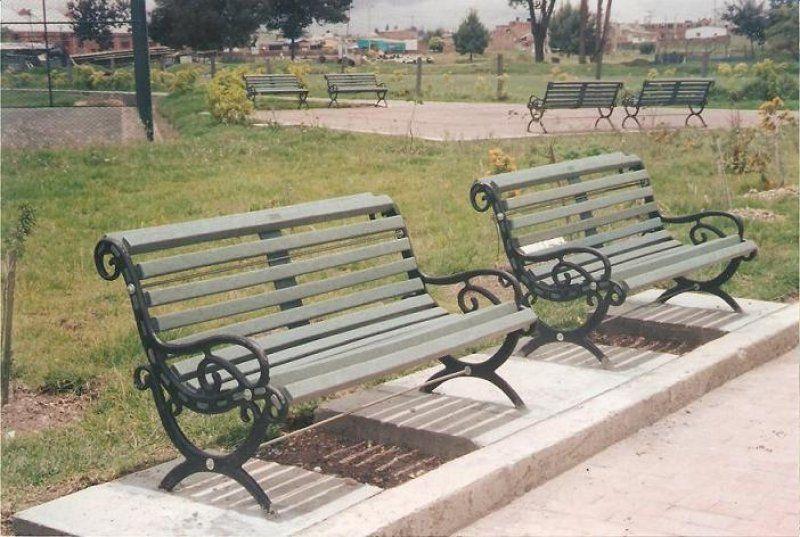 Banco de madera y forja para jardin 012 decoraci n pinterest bancos de madera madera y - Bancos de forja para jardin ...