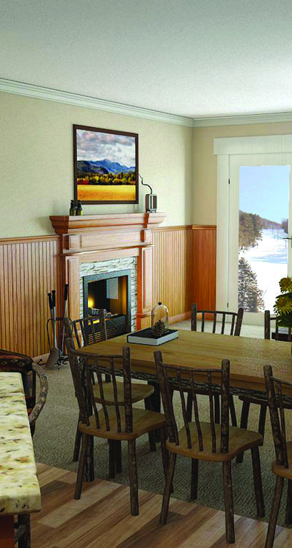 Kearsarge Brook Residence unit 1303: This 3rd floor condominium with lockout features spectacular sunset views of the Moat Mountain Range. This 2 bedroom and 2 bath residence sleeps 6 and features wood floors, stainless steel appliances and granite counter tops. Plus: gas fireplace, master bedroom with bathroom, and central AC. Appliances & equipment include: dishwasher, washer and dryer, range-gas, and refrigerator