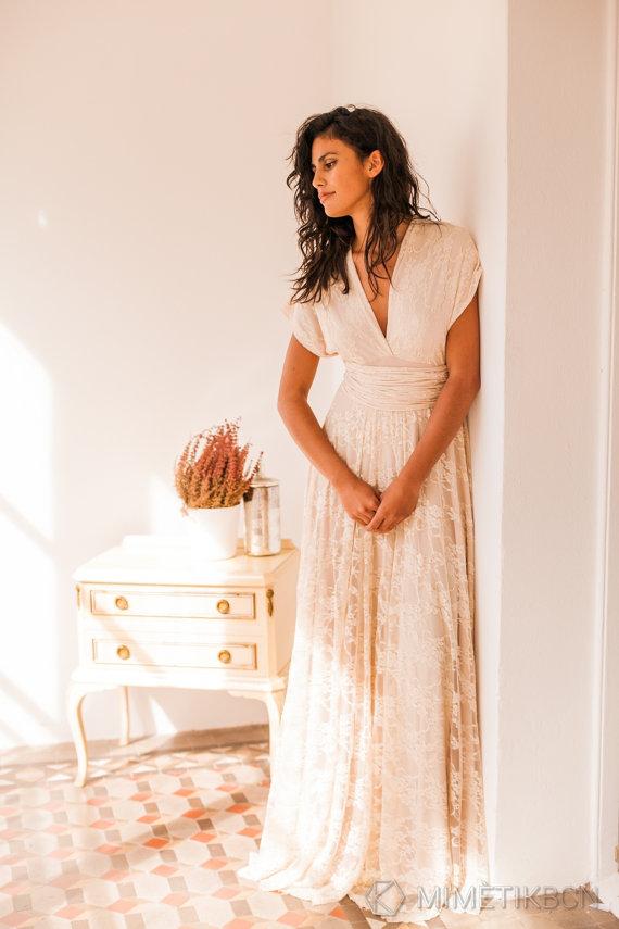 Boho Wedding Dress Bohemian Wedding Dress Bohemian Lace