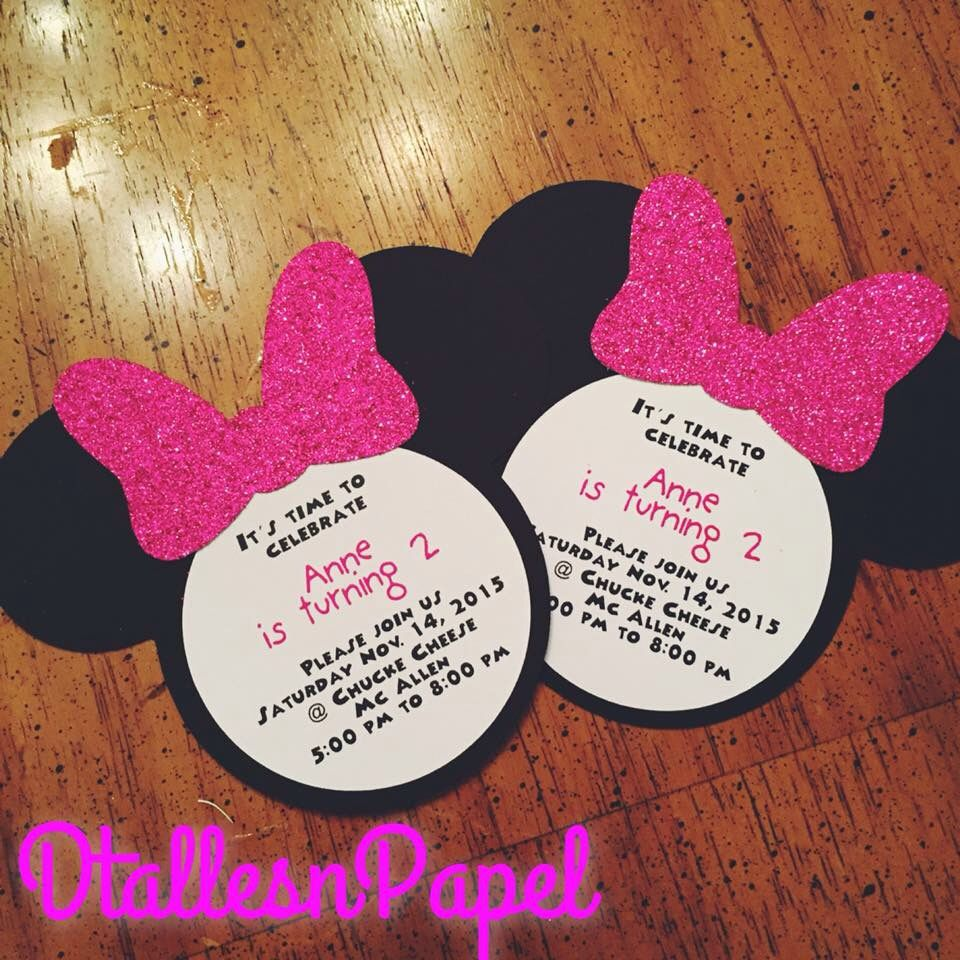 Minnie Mouse party invitation $1.50   Minnie Mouse birthday ...