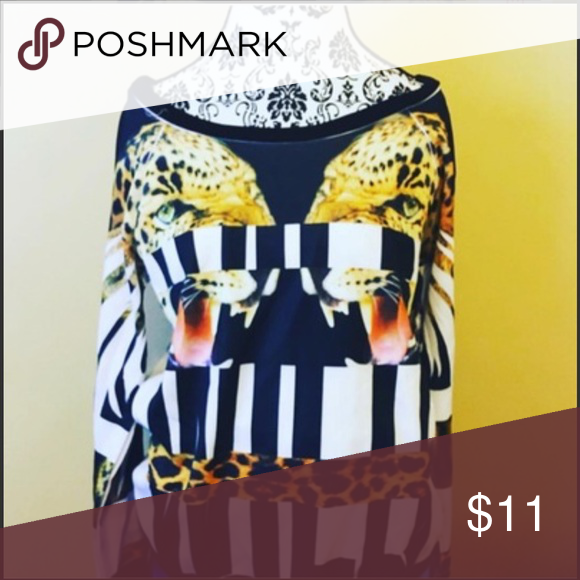 Roaring Tigers Sweatshirt Satin Roaring Tigers Sweat-Shirt ~ Mint Condition ~ Size: Large ~ Tops Sweatshirts & Hoodies