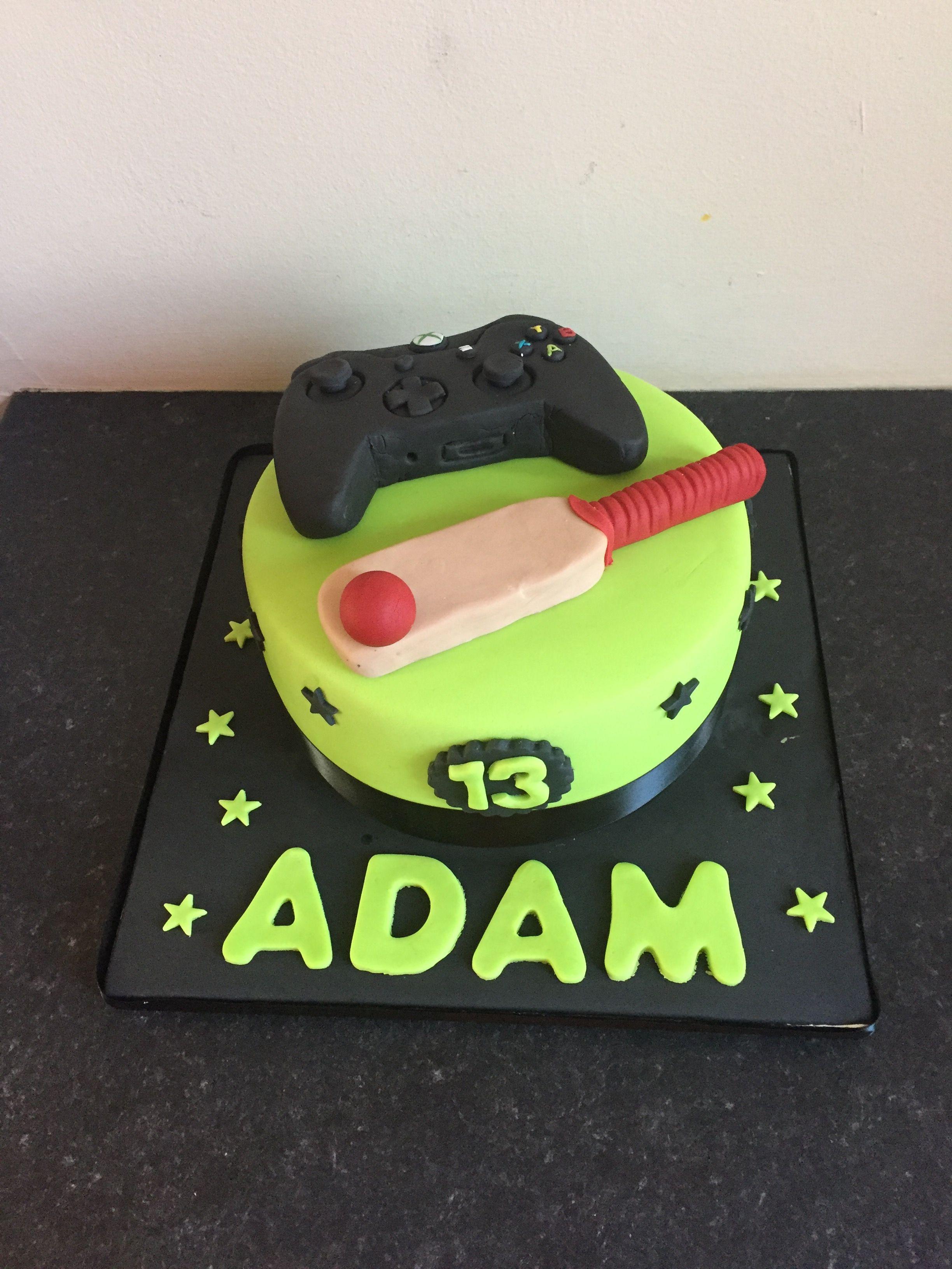 Boys 13th birthday cake xbox cricket 13 birthday cake