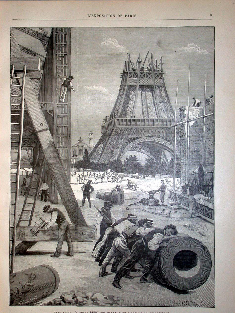 Eiffel Tower construction 1889