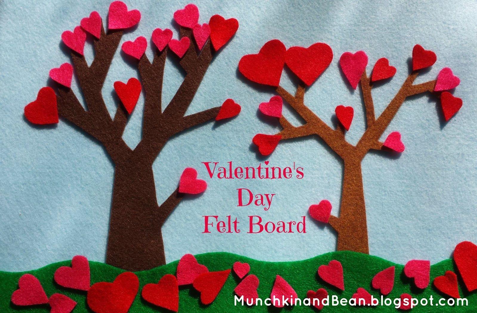 Valentine's Day Felt Board #diycrafts #feltboard #valentinesday