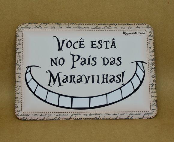 Arte Com Frases Medida 1475 X 21 Cm Papel Matte 240g Duplo Alice