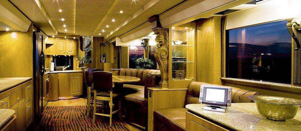 Inside Celebrity Tour Buses Camper Interior Design Luxury