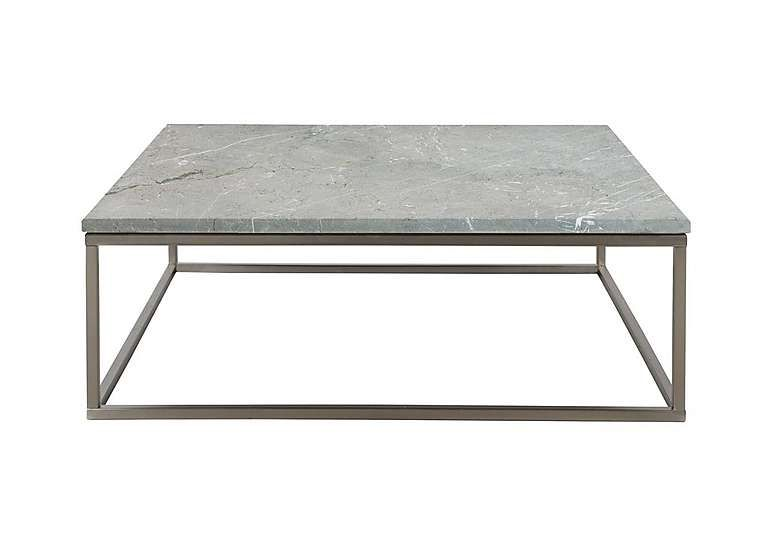 with a sand blasted marble top and brushed nickel legs here s
