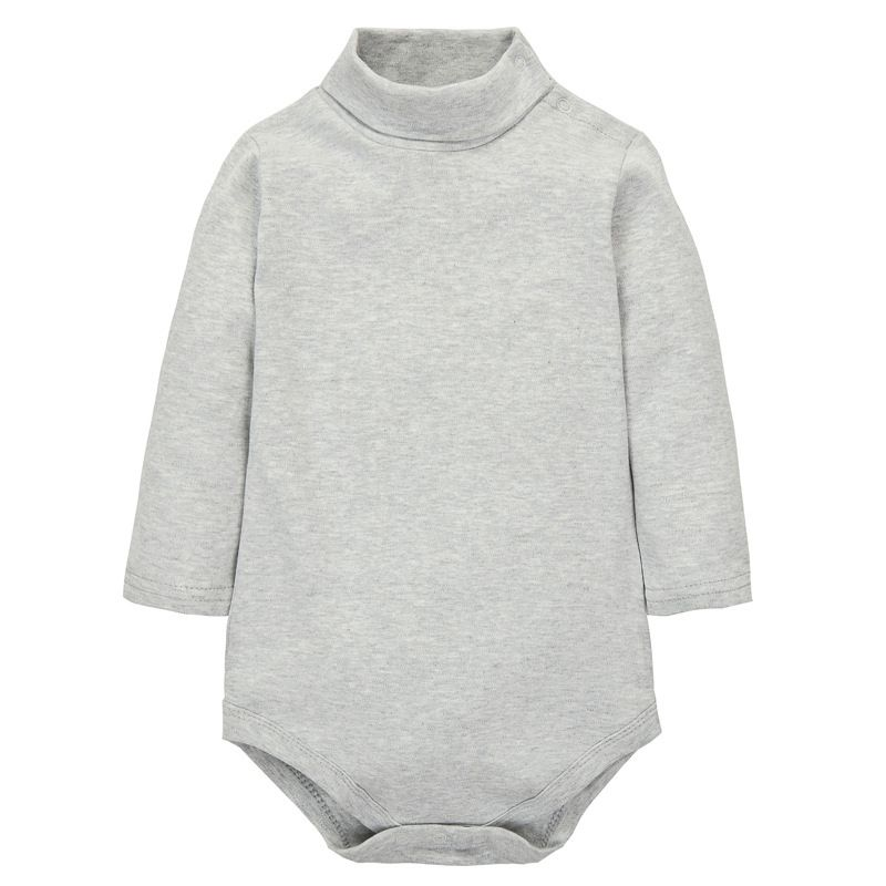 48e80d109 Newborn Winter Cotton Baby Boy Girl Rompers Infant Solid Turn-down ...