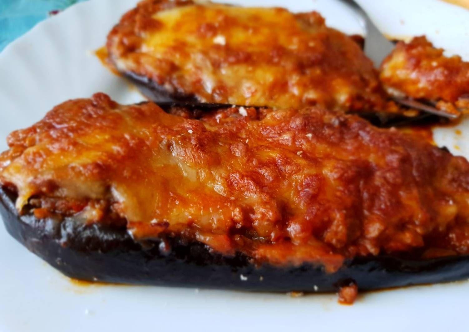 Berenjenas Rellenas De Carne Picada Y Tomate Receta En 2020 Recetas Con Tomate Berenjenas Rellenas Y Berenjenas Rellenas Carne