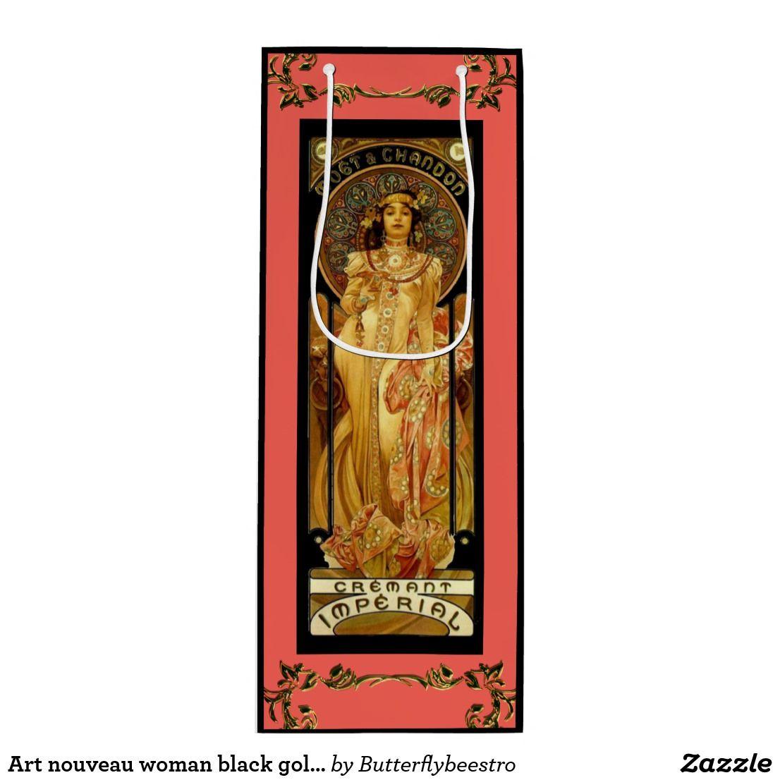 Art Nouveau Alphonse Mucha Champagne Label Wine Gift Bag Zazzle Com Art Nouveau Alphonse Mucha Wine Gift Bag