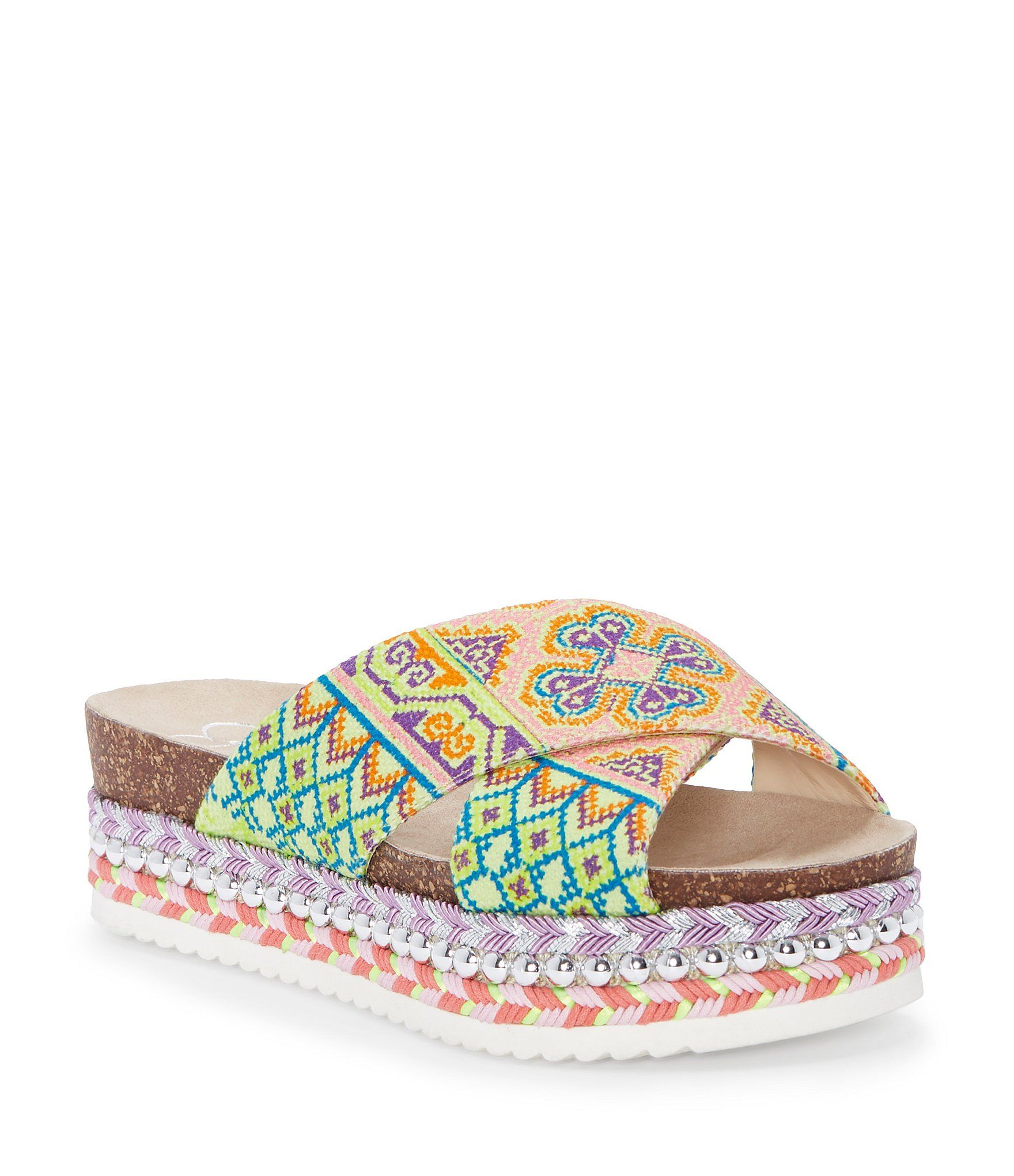 Jessica Simpson Shanny Cross Band Espadrille Slides 1rtAR