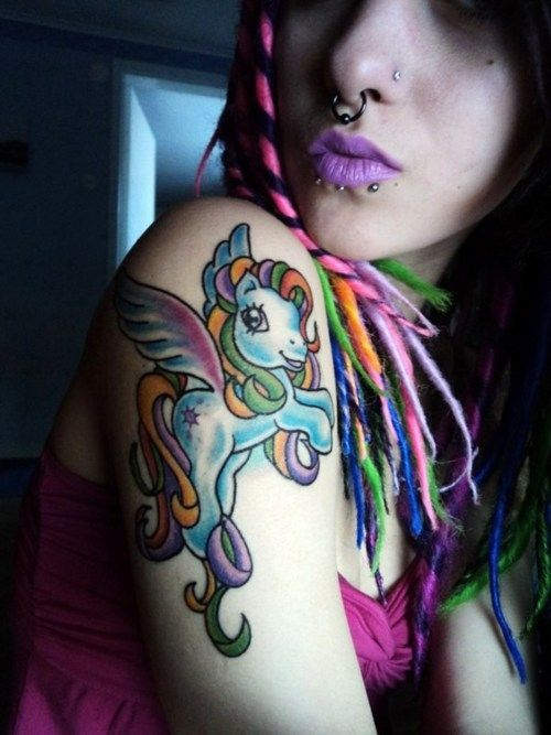 my little pony tattoos i love the colors on this one tattoos pinterest pony tattoo and. Black Bedroom Furniture Sets. Home Design Ideas