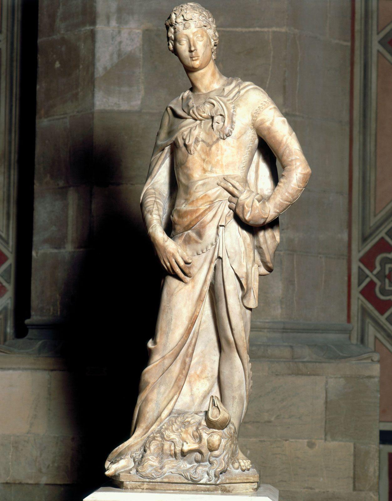 Donatello | The marble David, 1409 | Tutt'Art@ | Pittura * Scultura *  Poesia * Musica | | Donatello, Statue, Art assignments
