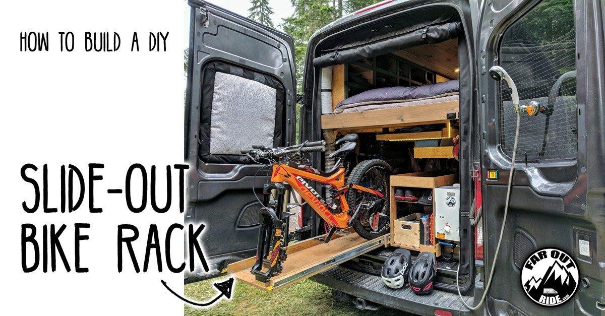 Slide Out Bike Rack Storage For Van How To Diy Build Bike Rack