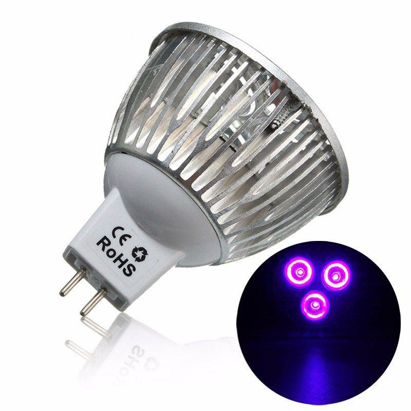 3w Mr16 Led Ultraviolet Color Purple Light Flashlight Bulb Lamp Torch Ac Dc 12v Light Flashlight Ultraviolet Color Mr16 Led Bulbs