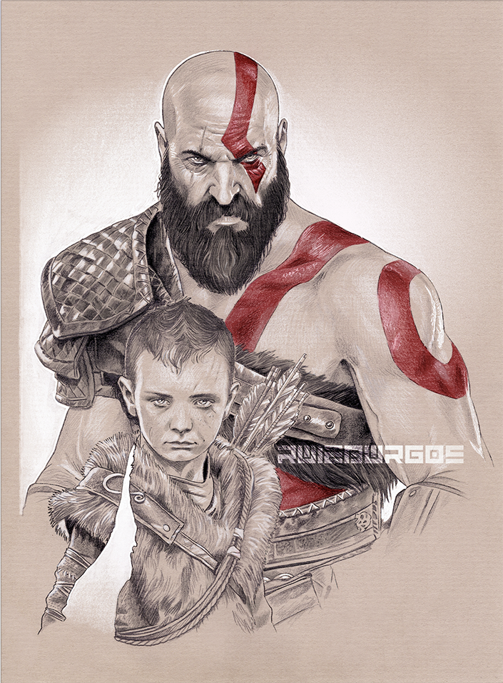 God Of War By Ruizburgos God Of War Kratos Desenho