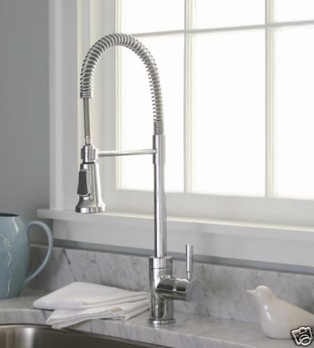 Perfect Industrial Style Chrome Pull Down Kitchen Sink Faucet