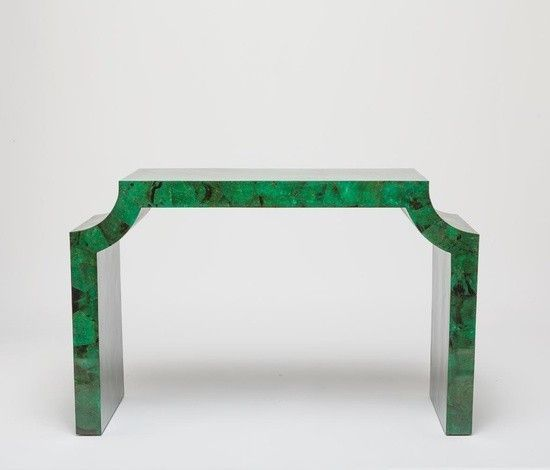 Jael Console Table | Jade Green Malachite Console Table By Made Goods    Global Home
