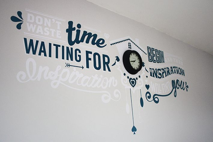 Creative Office Wall Artthrough The Keyhole Magpie Office Designs