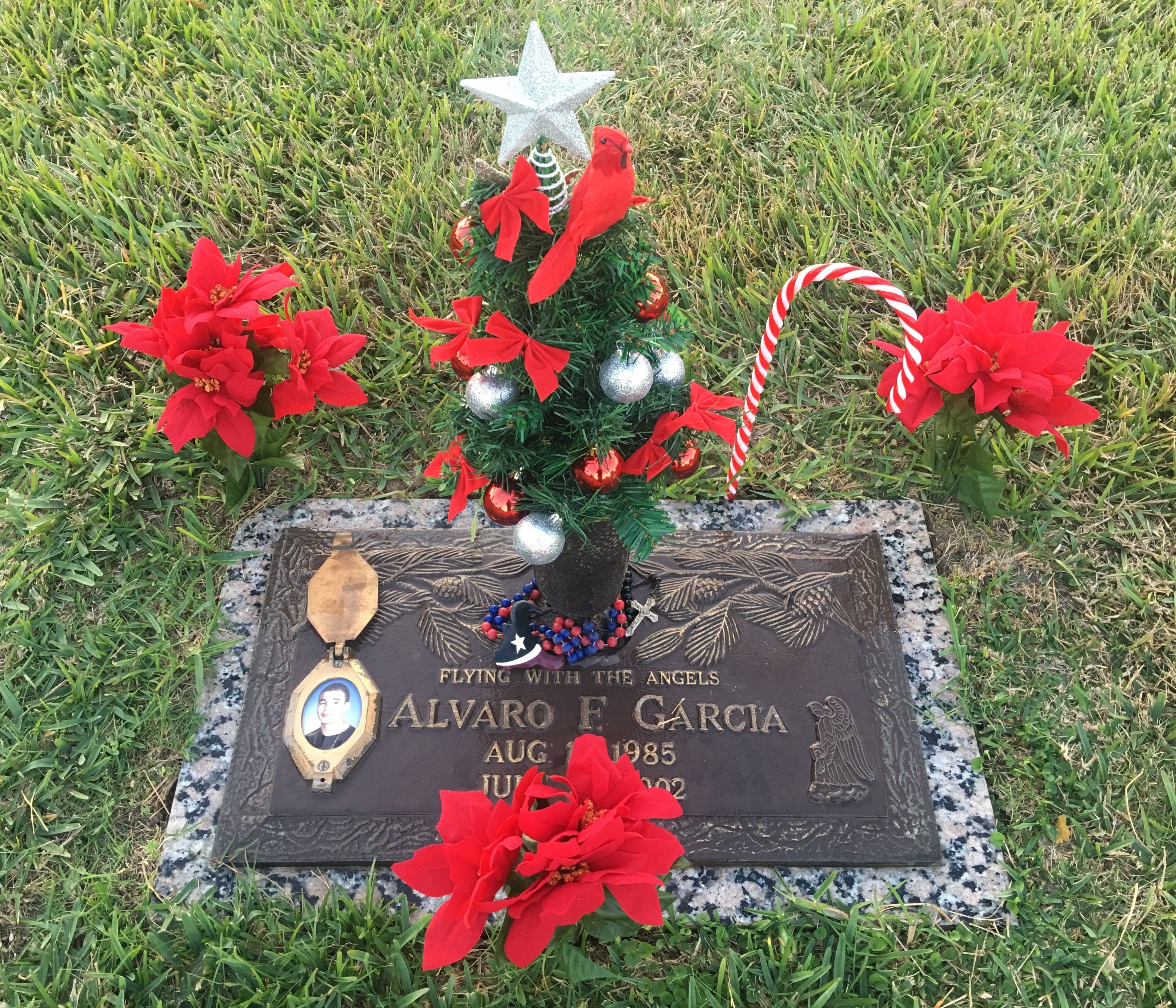 Cemetery Christmas Tree Grave Marker Vase Decorations 2017