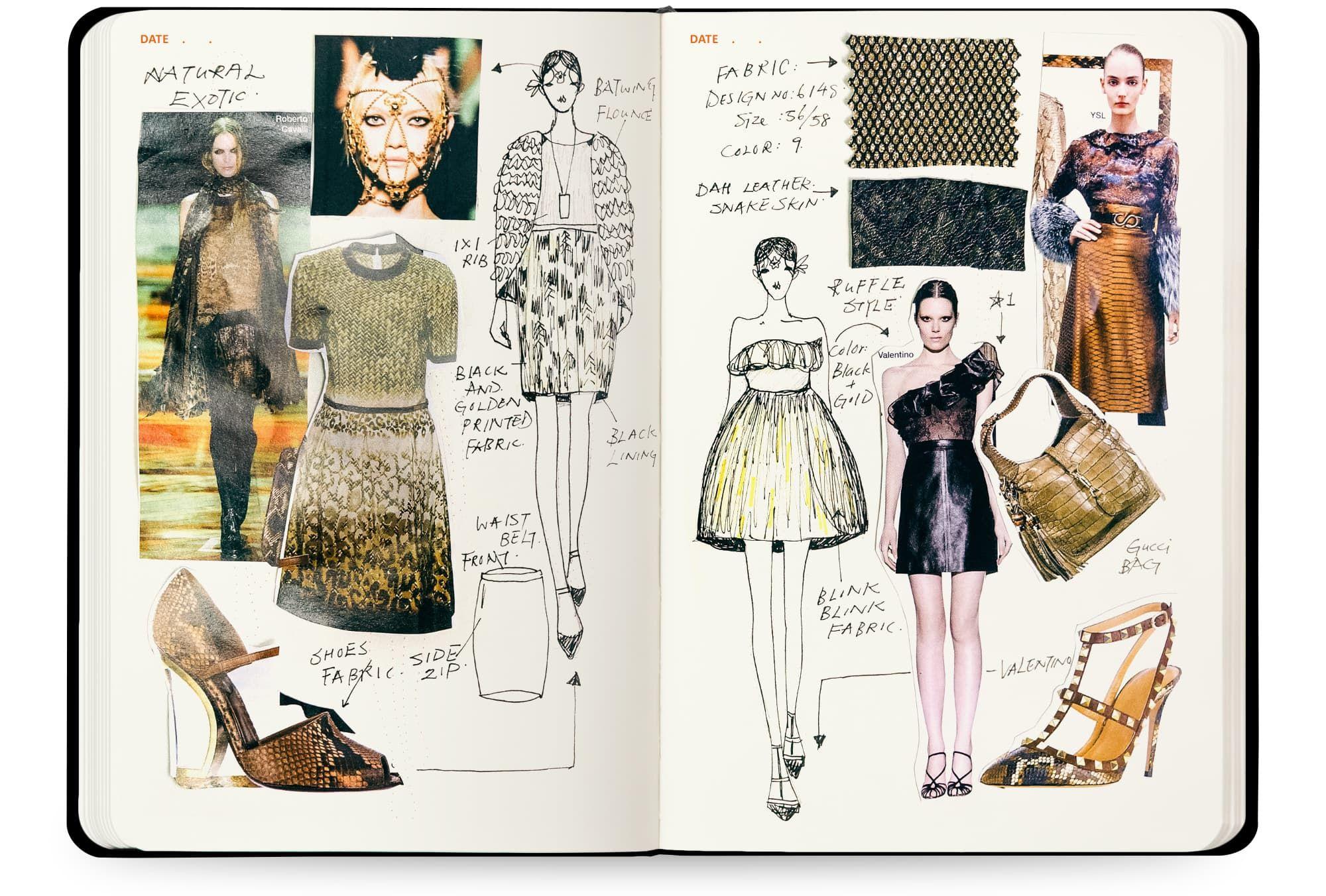 Womens A5 Sketch Book Fashion Design Sketchbook Fashion Sketchbook