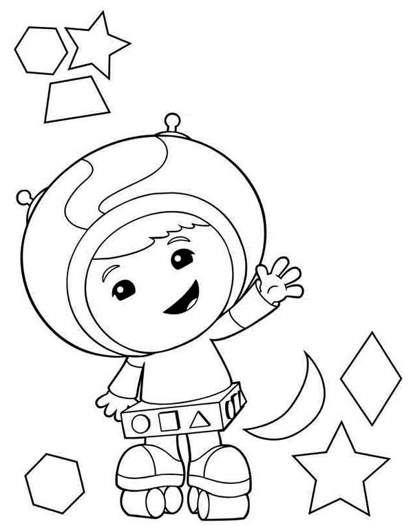 Geo The Shape Expert In Team Umizoomi Coloring Page Color Luna In 2020 Team Umizoomi Coloring Pages Cool Coloring Pages
