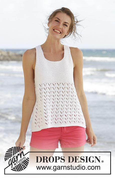 Lacy tank top! Beautiful pattern | Crocheted Tank Tops | Pinterest ...