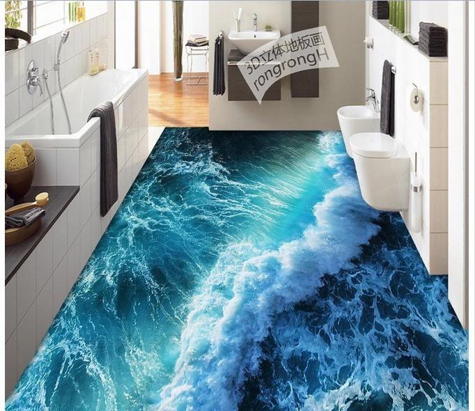 Barato foto personalizada piso piso 3d mural pvc papel de for Epoxy boden 3d