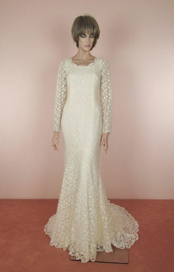 90\'s Vintage Wedding Dress Ivory wedding by ValenVintageWedding ...