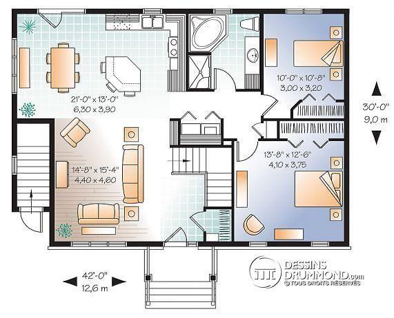 plan maison avec 2 logements - Recherche Google plan maison