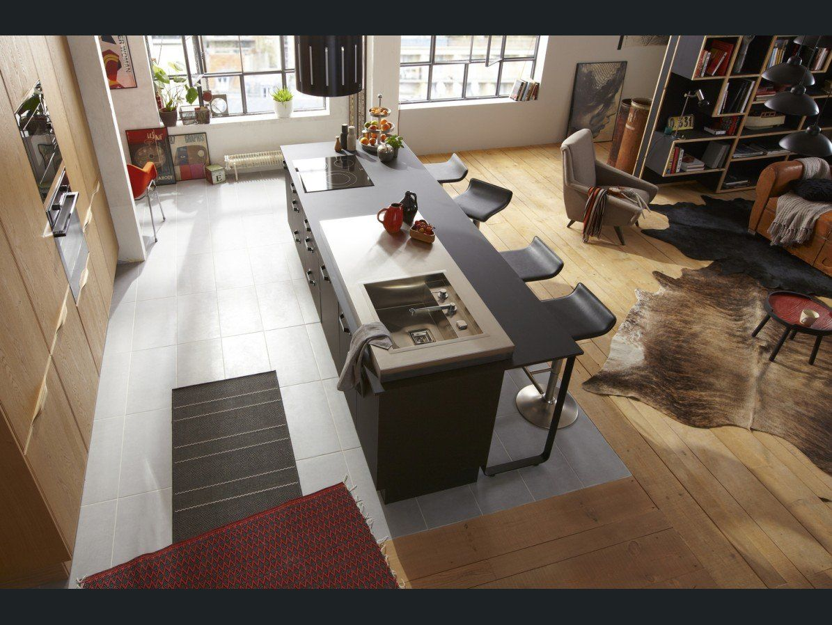 ilots de cuisine parquet carrelage cuisine pinterest cuisine ouverte ilot cuisine et. Black Bedroom Furniture Sets. Home Design Ideas