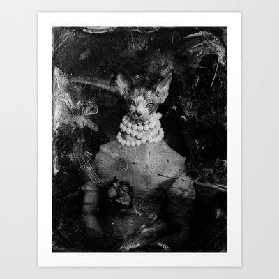 Royal sphynx decay Art Print Promoters - $23.00