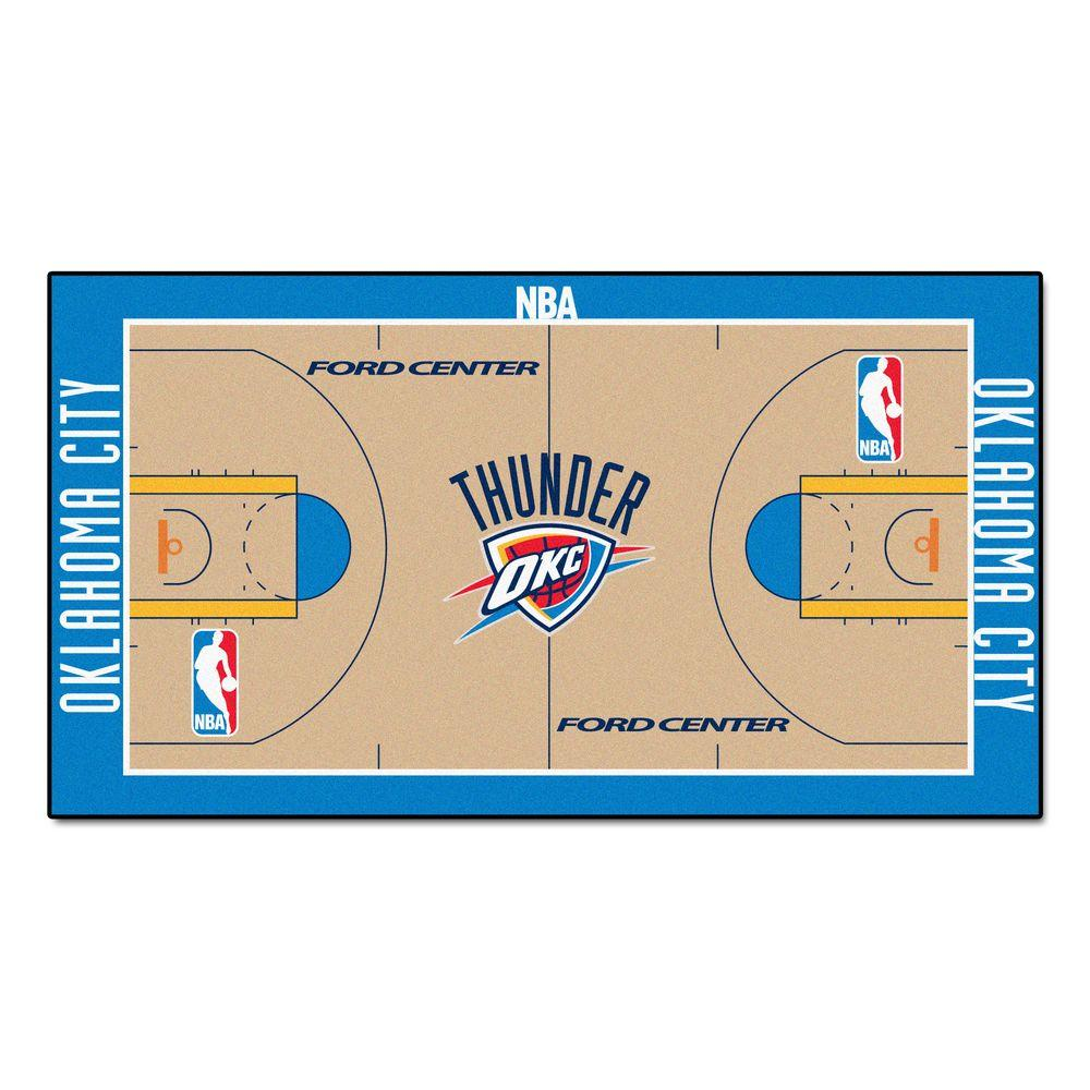 timeless design 989bc 2b761 FANMATS Oklahoma City Thunder 2 ft. x 4 ft. NBA Court Runner ...