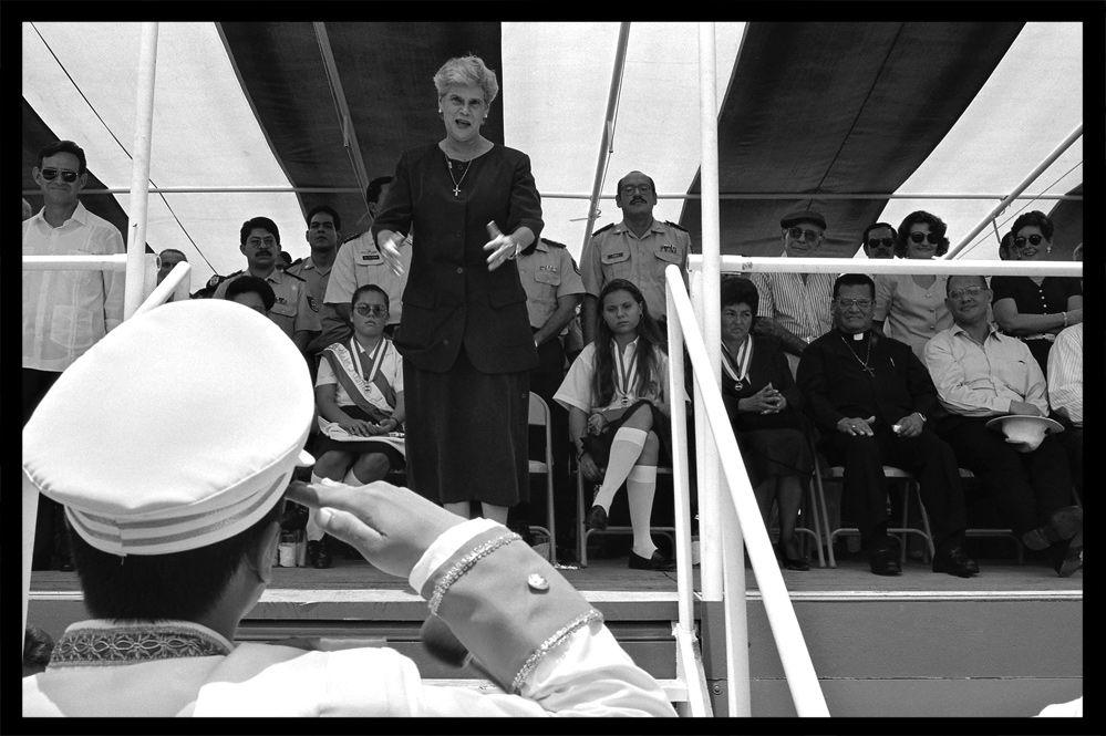 La présidente Violeta Chamorro - Nicaragua 1994