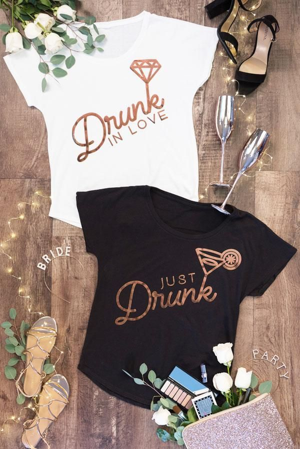 Rose Gold Foil Dolman Tees - Drunk in Love | Just Drunk